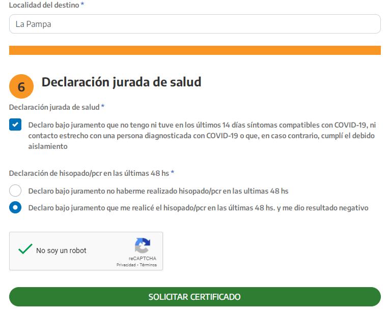 Certificado Único de Circulación - Coronavirus COVID 19